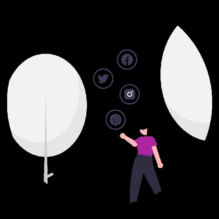 Manejo de pinterest y twitter